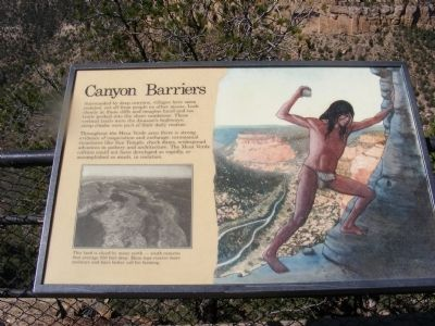 Canyon Barriers Marker image. Click for full size.