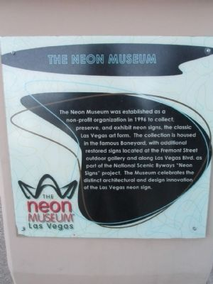 The Neon Museum Marker image. Click for full size.