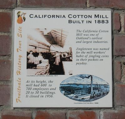 California Cotton Mill Marker image. Click for full size.