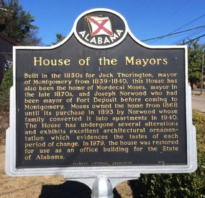 House of the Mayors Marker image. Click for full size.