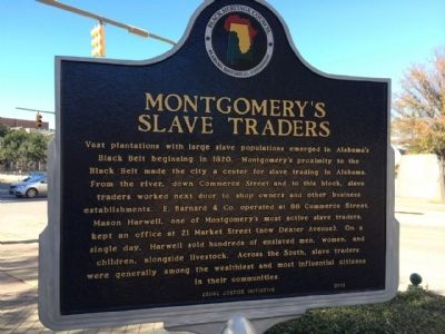 Montgomery's Slave Traders Marker image. Click for full size.