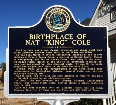 "Birthplace of Nat ""King"" Cole Marker image. Click for full size."