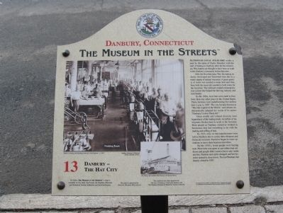 Danbury – The Hat City Marker image. Click for full size.