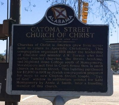Catoma Street Church of Christ Marker image. Click for full size.