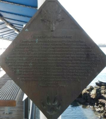 History of the Transbay Ferry Marker image. Click for full size.