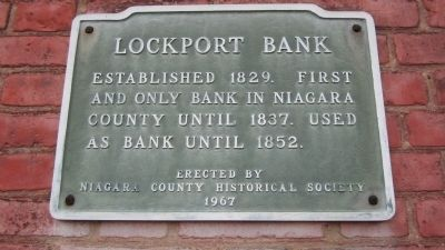 Lockport Bank Marker image. Click for full size.