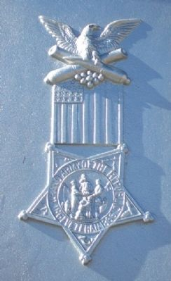 Civil War Memorial G.A.R. Emblem image. Click for full size.