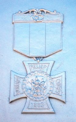 Civil War Memorial W.R.C. Emblem image. Click for full size.
