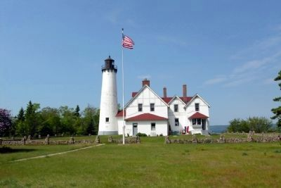Point Iroquois Lighthouse image. Click for full size.