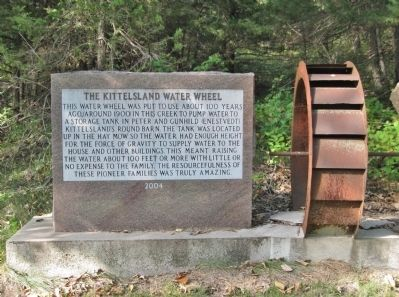 The Kittelsland Water Wheel and Marker image. Click for full size.