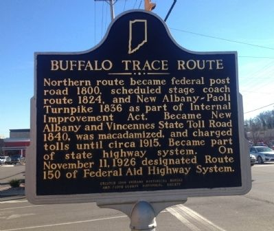 Buffalo Trace Route Marker image. Click for full size.