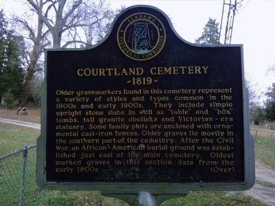 Courtland Cemetery Marker image. Click for full size.