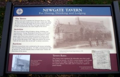 Newgate Tavern Marker image. Click for full size.