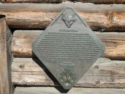 Jack London's Cabin Marker image. Click for full size.