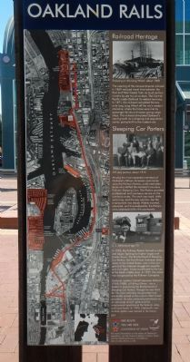 Oakland Rails Marker image. Click for full size.