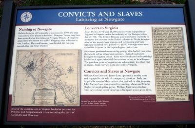 Convicts and Slaves Marker image. Click for full size.