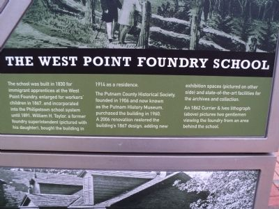 The West Point Foundry School	 Marker image. Click for full size.