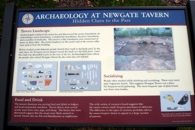 Archaeology at Newgate Tavern Marker image. Click for full size.