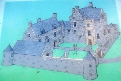 Castle Balfour Illustration on Marker image. Click for full size.