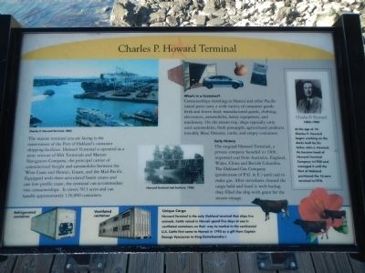 Charles P. Howard Terminal Marker image. Click for full size.