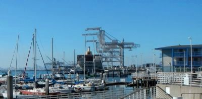 Port of Oakland Marine Terminal in the background image. Click for full size.