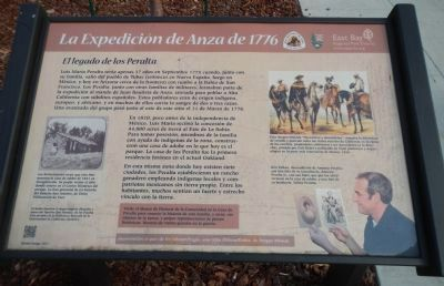 Anza Expedition of 1776 Marker (Spanish) image. Click for full size.