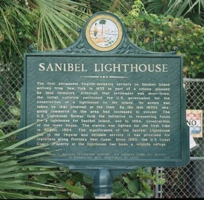 Sanibel Lighthouse Marker image. Click for full size.