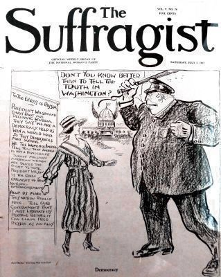 <u>The Suffragist</u>, July 7, 1917 image. Click for full size.