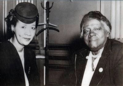 Mary McCloud Bethune and Dorothy Height image. Click for full size.