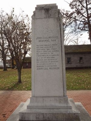 John Gill Weisiger Memorial Park Monument image. Click for full size.