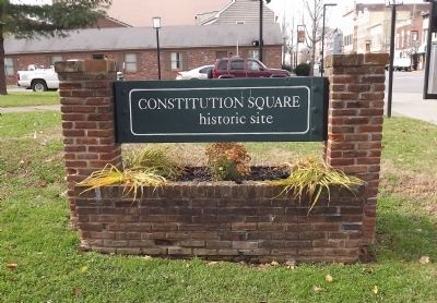 Constitution Square historic site Marker image. Click for full size.