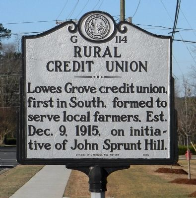 Rural Credit Union Marker image. Click for full size.