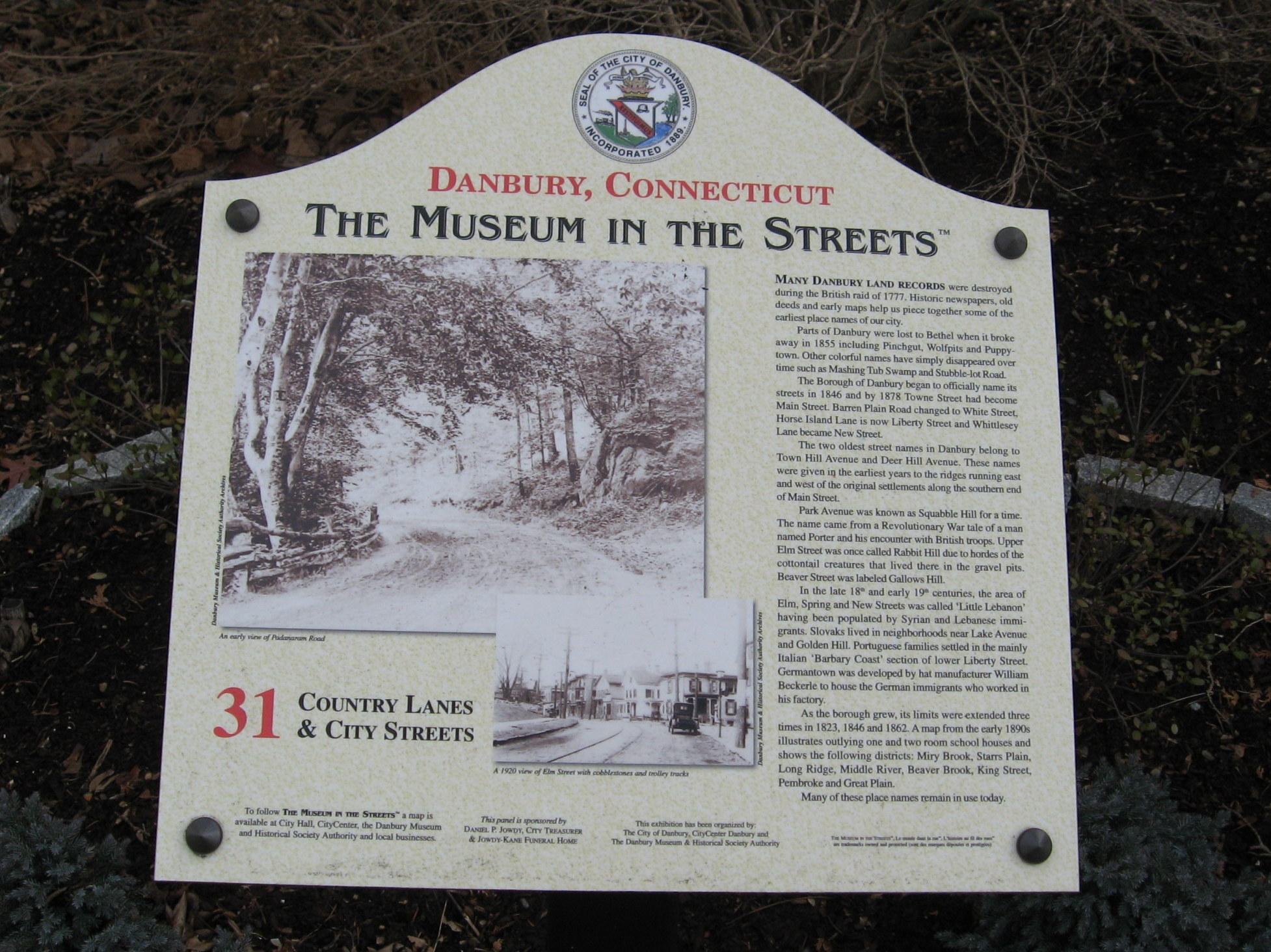 Country Lanes & City Streets Marker