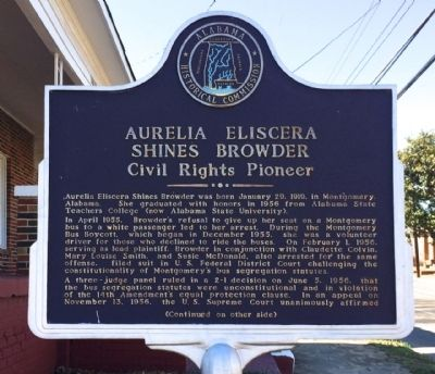 Aurelia Eliscera Shines Browder Marker image. Click for full size.