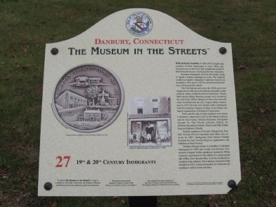 19th & 20th Century Immigrants Marker image. Click for full size.