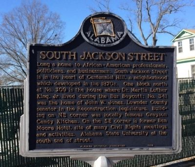 South Jackson Street Marker image. Click for full size.