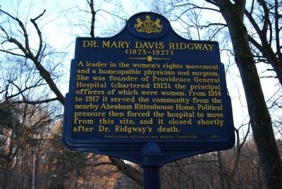 Dr. Mary Davis Ridgway Marker image. Click for full size.