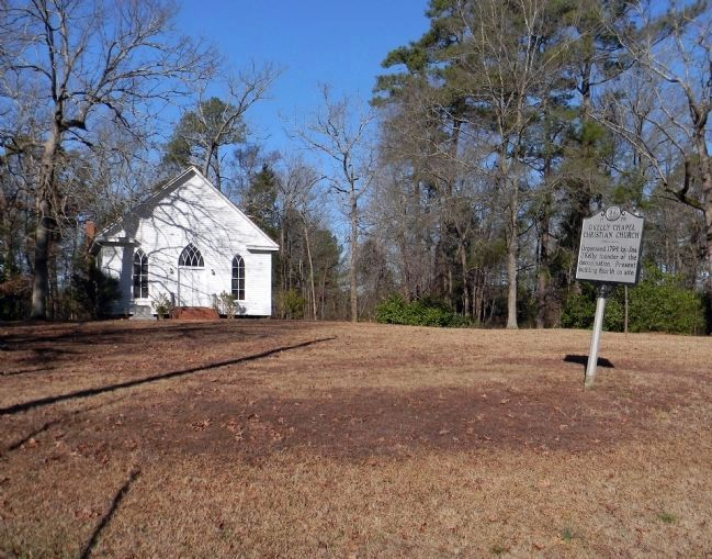 Wide view of the O'Kelly Chapel Christian Church Marker image. Click for full size.