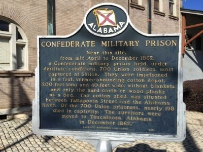 Confederate Military Prison Marker image. Click for full size.