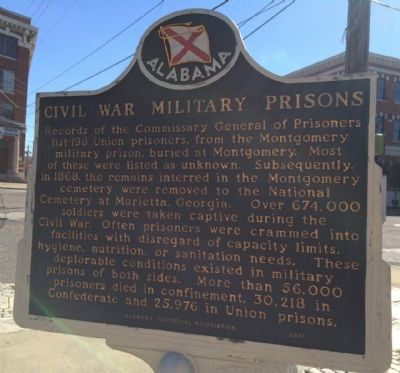 Civil War Military Prisons Marker image. Click for full size.