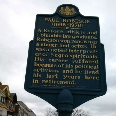 Paul Robeson (1898 - 1976) Marker image. Click for full size.