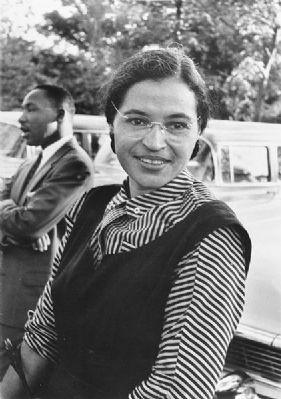 Rosa L Parks & Martin Luther King, Jr. image. Click for full size.