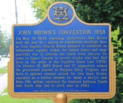 John Brown's Convention 1858 Marker image. Click for full size.