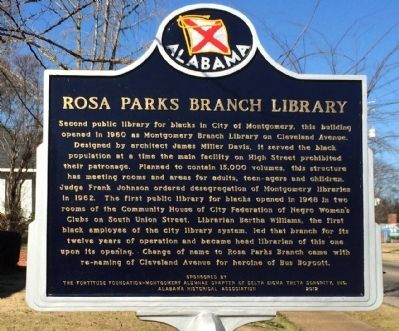 Rosa Parks Branch Library Marker image. Click for full size.