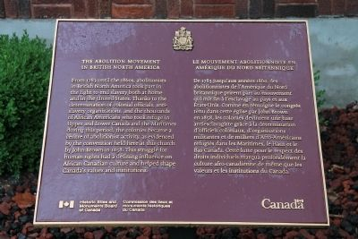 The Abolition Movement in British North America Marker image. Click for full size.