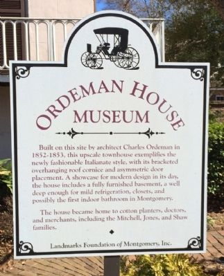 Ordeman House Museum Marker image. Click for full size.