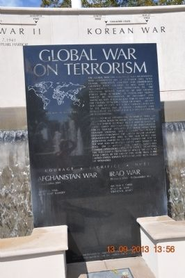 Global War on Terrorism Marker image. Click for full size.