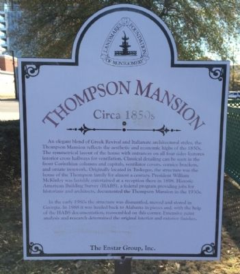 Thompson Mansion Marker image. Click for full size.