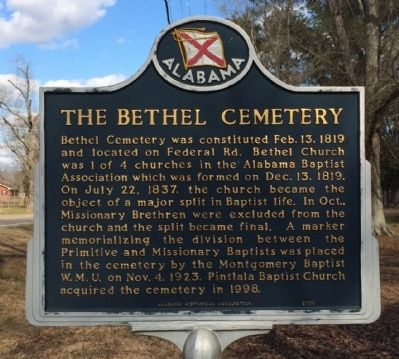 The Bethel Cemetery Marker image. Click for full size.