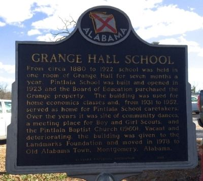 Grange Hall School Marker image, Touch for more information